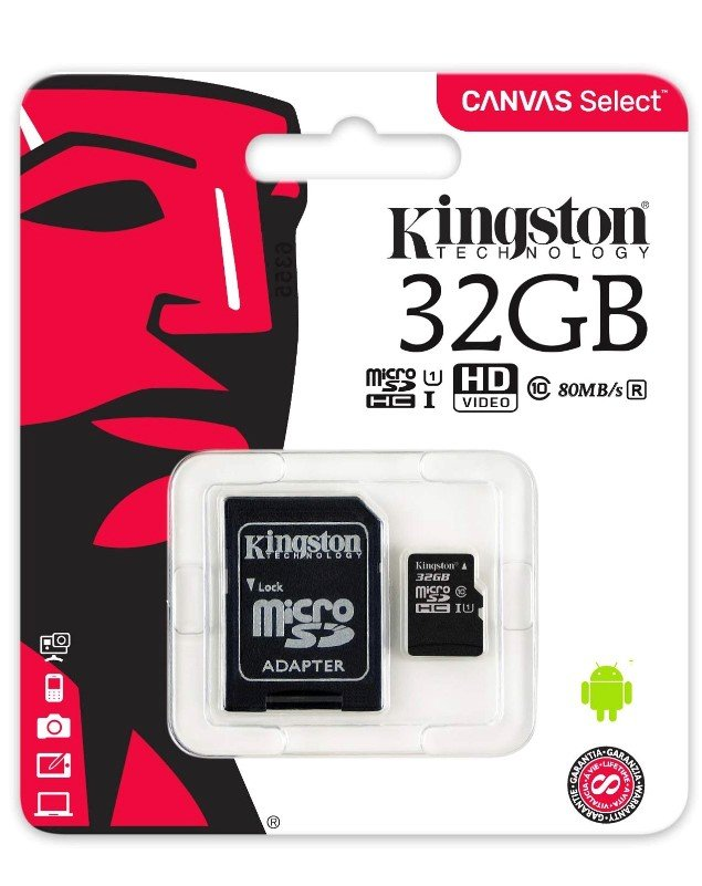 Tarjeta Memoria Kingston Micro Sd 32gb Clase10  40mb/s-